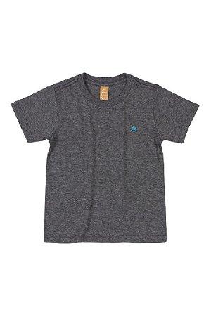 Camiseta Manga Curta - Menino - Preto Mescla - Up Baby