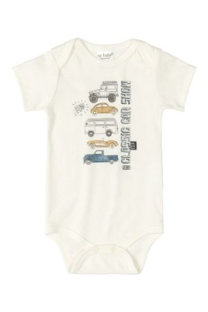 Body Manga Curta - Carrinhos -  Up Baby