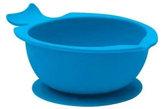 Bowl de Silicone com Ventosa - Azul - Buba