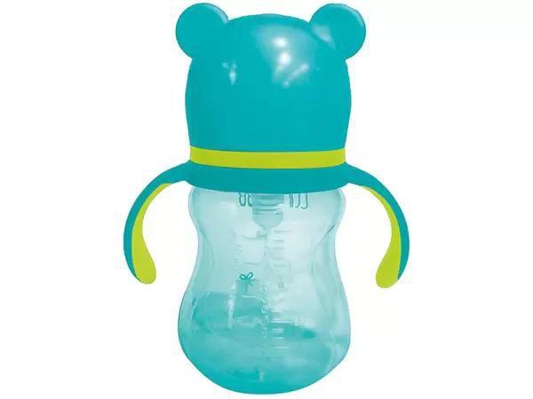 Copo Infantil com alça - Urso Azul -  180ml Buba