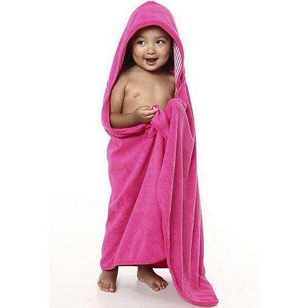 Toalha Super Absorvente com capuz Pink
