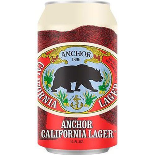 Cerveja Anchor California Lager Lata 355ml