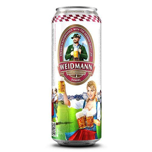 Cerveja Weidmann Heffeweissbier Dunkel Lata 500ml
