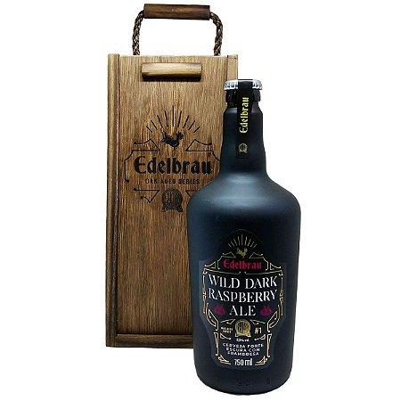 Cerveja Edelbrau Wild Dark Raspberry Ale 750ml com Estojo em Madeira