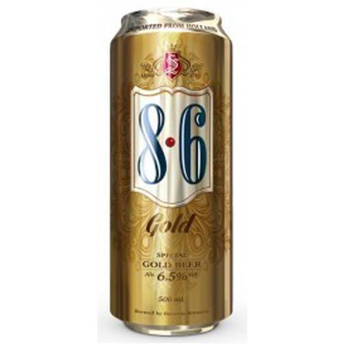 Cerveja 8.6 Gold Lata 500ml