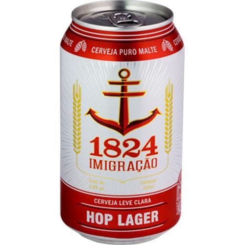 Cerveja 1824 Imigração Hop Lager Lata 350ml
