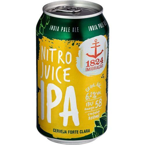 Cerveja 1824 Imigração Nitro IPA Lata 350ml