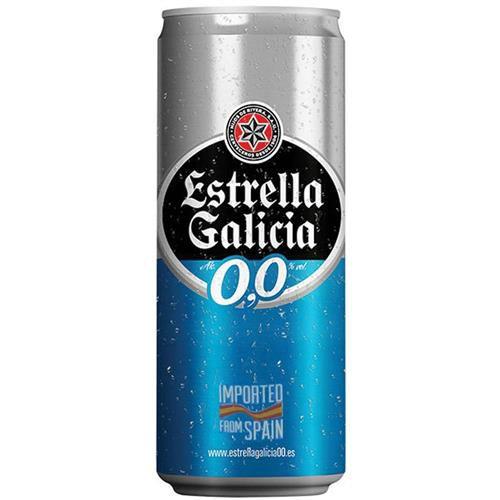 Cerveja Estrella Galicia Sem Álcool 330ml Lata