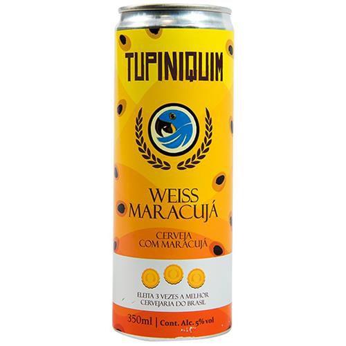 Cerveja Tupiniquim Weiss Maracujá Lata 350ml