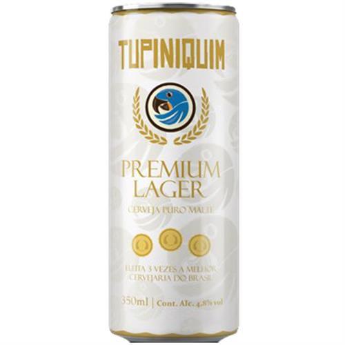 Cerveja Tupiniquim Premium Lager Lata 350ml