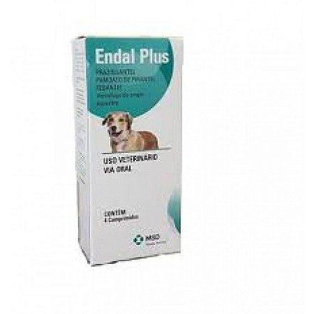 Endal Plus - Vermífugo de Amplo Espectro - 4 Comprimidos