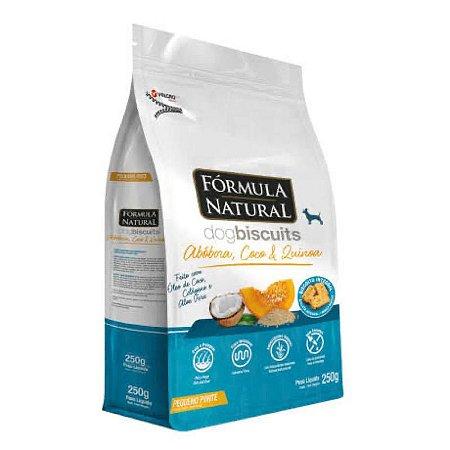 Biscoito Para Cães de Pequeno Porte Formula Natural Dog Biscuits Abobora, Côco e Quinoa - 250g