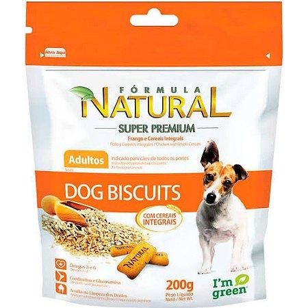 Biscoito Para Cães Adultos  Formula Natural Super Premium Dog Biscuits Frango e Cereais - 200g