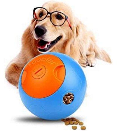 Brinquedo Comedouro Interativo Eletrônico Foobler Amicus - Azul e Laranja