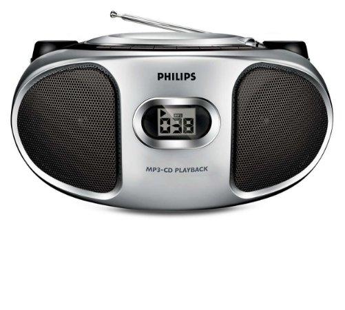 Rádio AM/FM CD Player MP3 Portátil Philips AZ302S