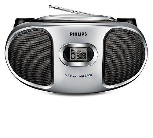 Rádio AM/FM CD Player MP3 Portátil Philips AZ302S