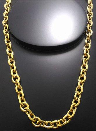 Corrente Cartier Cadeado 70cm 9mm Banhada a Ouro 18K