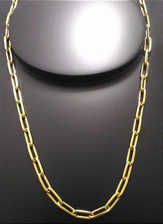 Corrente Cartier Alongado 70cm 5mm Banhada a Ouro 18K