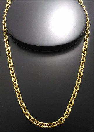 Corrente Cartier Cadeado 60cm 6mm Banhada a Ouro 18K
