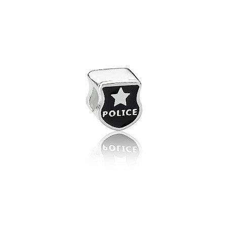 Berloque de Prata Distintivo Policial
