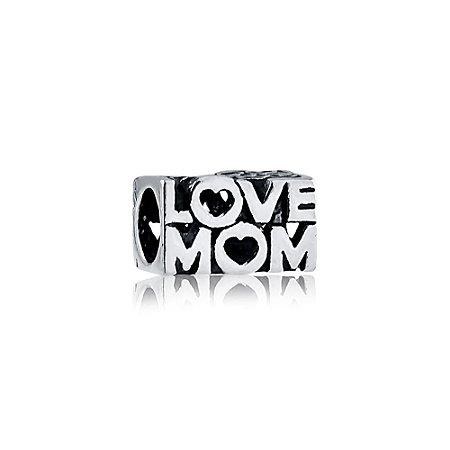 Berloque de Prata Separador Love Mom Mãe