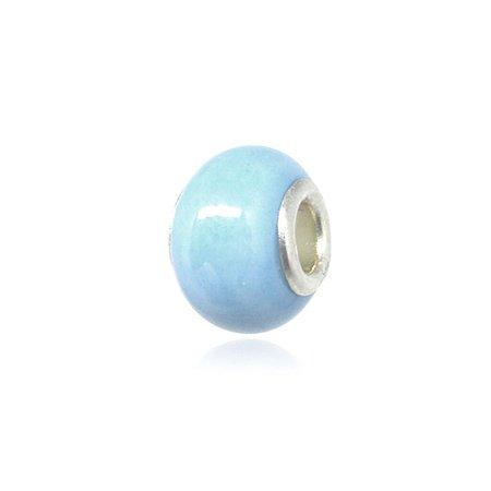 Berloque Separador Azul Perolado Folheado