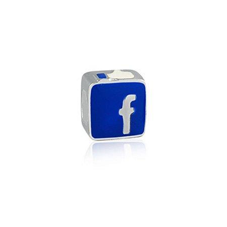 Berloque de Prata Facebook