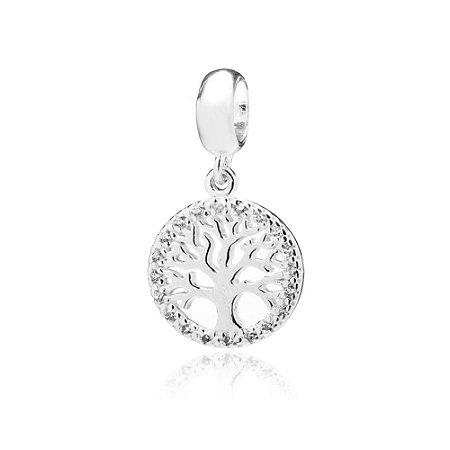 Berloque de Prata Árvore da Vida com Zircônias