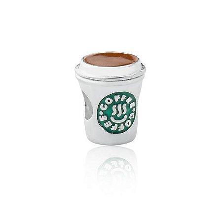 Berloque de Prata Copo de Café Starbucks