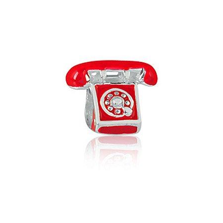 Berloque de Prata Telefone Retrô