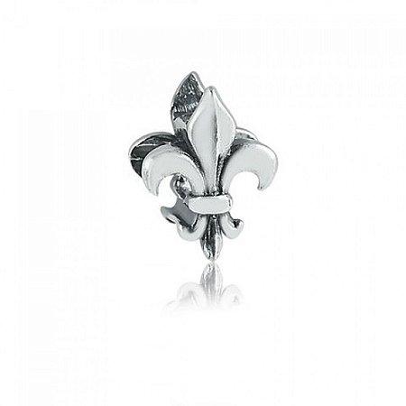 Berloque de Prata Flor de Lis