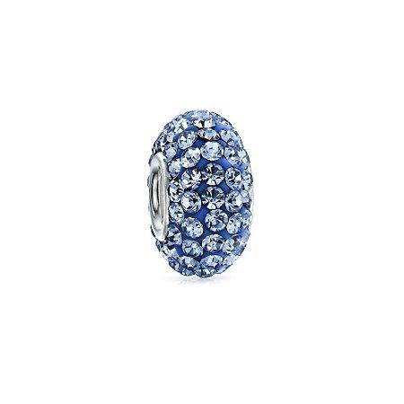 Berloque de Prata Separador Brilhante Azul