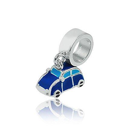 Berloque de Prata Carro Azul