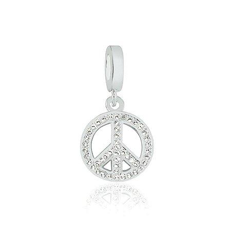 Berloque de Prata Símbolo da Paz com Zircônias