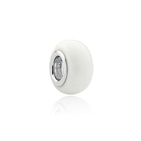 Berloque Separador Branco Porcelana