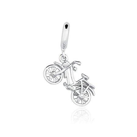 Berloque de Prata Bicicleta Retrô