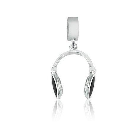 Berloque de Prata Fone de Ouvido