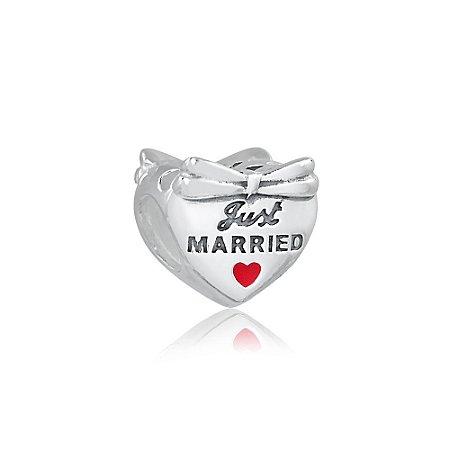 Berloque de Prata Recém Casados