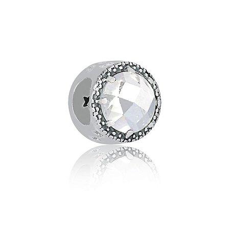 Berloque de Prata Separador Radiante Cristal