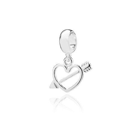 Berloque de Prata Coração Cupido