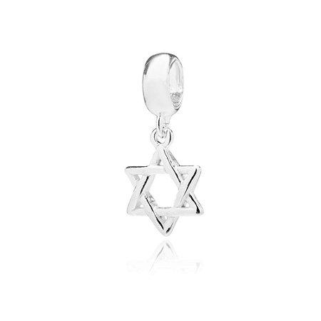 Berloque de Prata Estrela de Davi