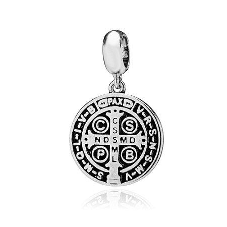 Berloque de Prata Medalha São Bento
