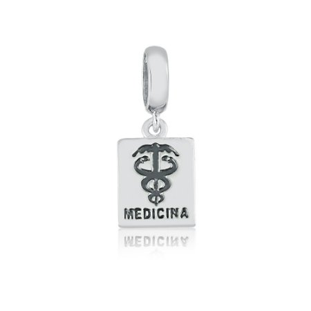 Berloque de Prata Medicina