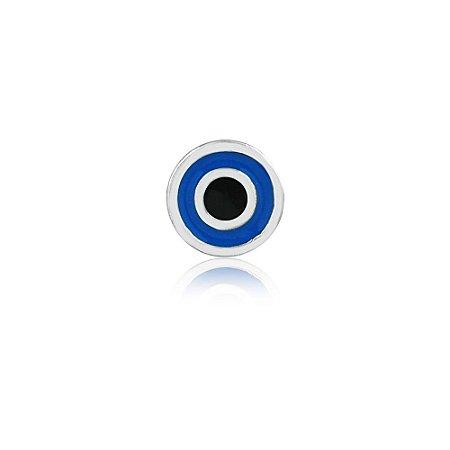 Mini Locket de Prata Olho Grego