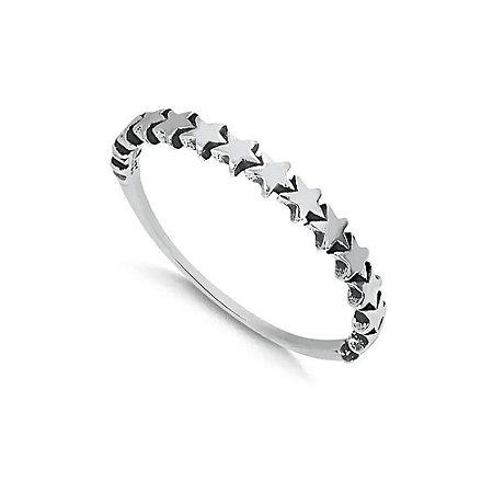 Anel de Prata Estrelado