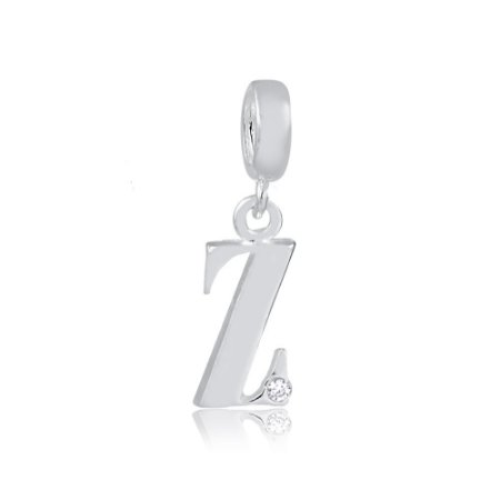 Berloque de Prata Letra Z com Zircônia