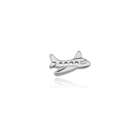 Mini Locket de Prata Avião