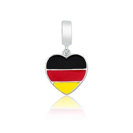 Berloque de Prata Bandeira da Alemanha