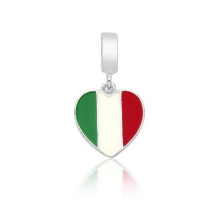 Berloque de Prata Bandeira da Itália