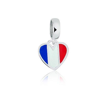 Berloque de Prata Bandeira da França